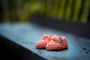 pair of baby shoes due to miscarriage