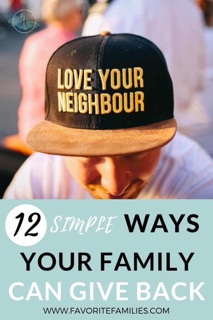 Man wearing hat saying love your neighbor