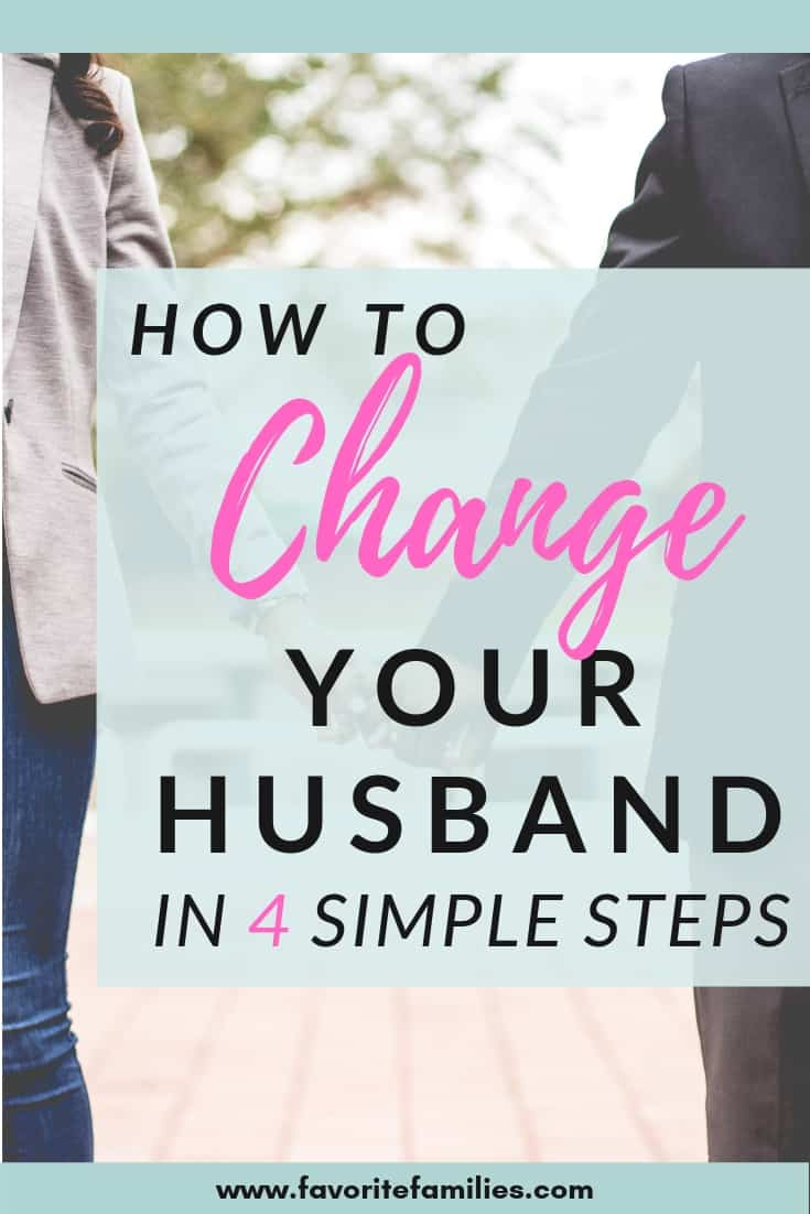 married couple with text overlay how to change your husband