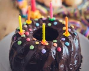 birthday cake for Jesus as Christmas tradition