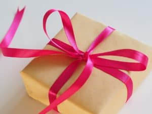 Christmas gift as a christmas tradition