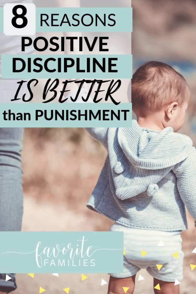 Mom and son with text overlay 8 reasons positive discipline is better than punishment