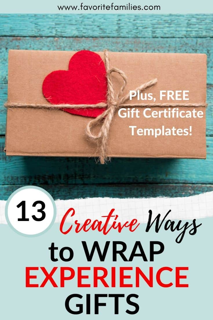 wrapped gift with text overlay 13 creative ways to wrap an experience gift