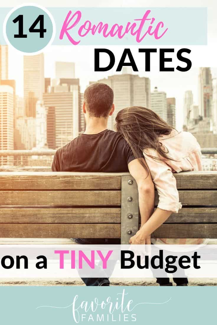 couple holding hands with text overlay 14 Romantic Dates on a Tiny Budget