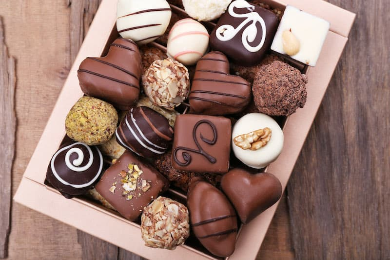 gorgeous box of assorted chocolate truffles