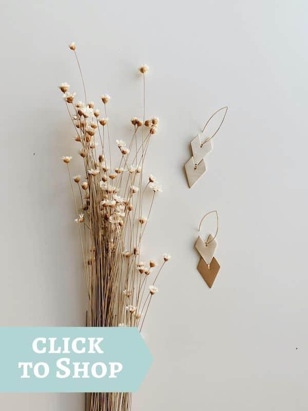 gold filled chevron earrings by Oceanne
