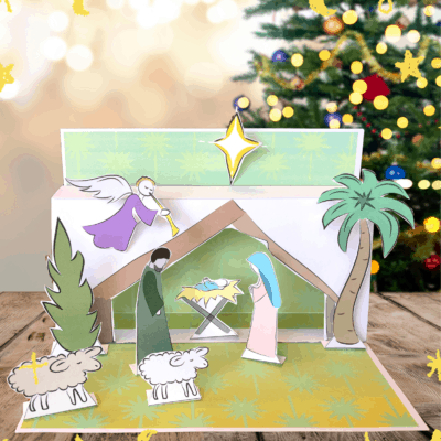Free Printable 3D Nativity Scene