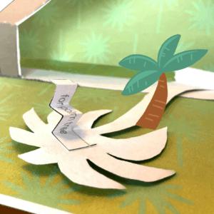 printable nativity scene palm tree back